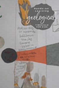 Hands on learning activity for kids interested in Geology and how the earth was formed