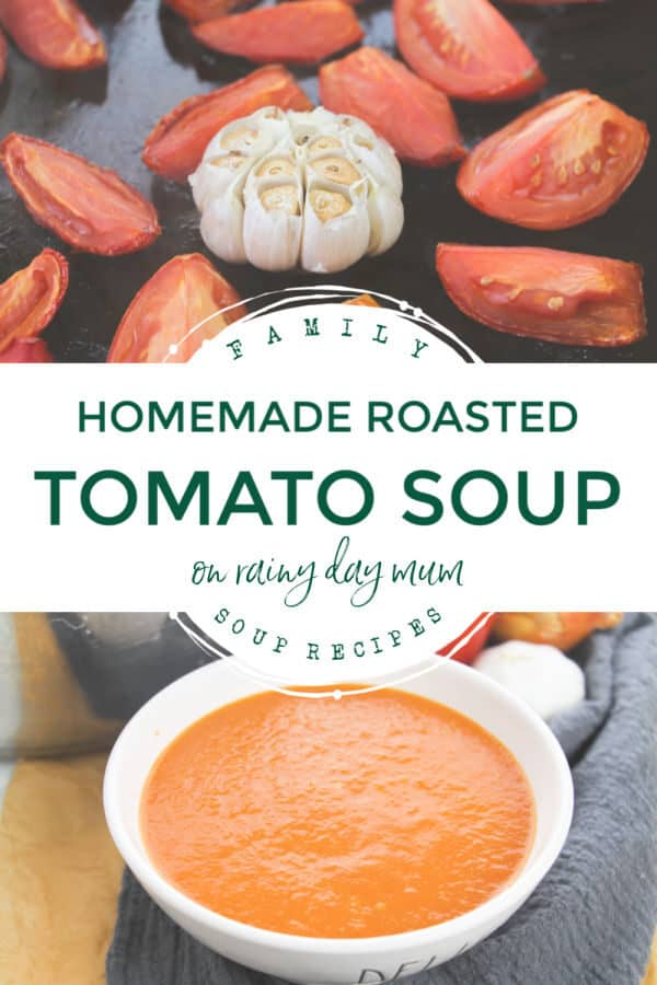 homemade roasted tomato soup
