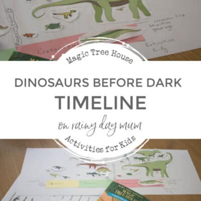 Dinosaur Timeline ~ Magic Tree House Dinosaurs Before Dark Inspired Activity