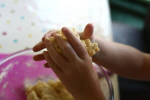 kneading dough a great fine motor skill for toddlers and preschoolers