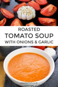 roasted tomato soup with onions and garlic