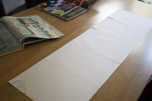 timeline paper stuck together