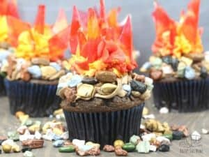 simple bonfire night cupcakes