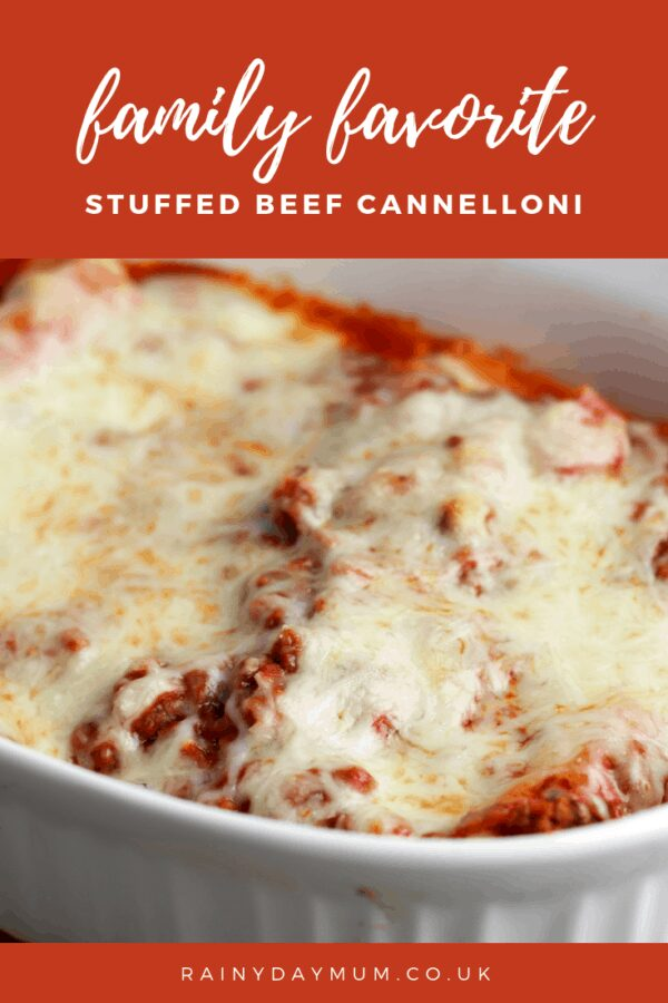 family favourite stuffed beef cannelloni