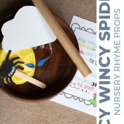 Incy Wincy Spider Nursery Rhyme Props