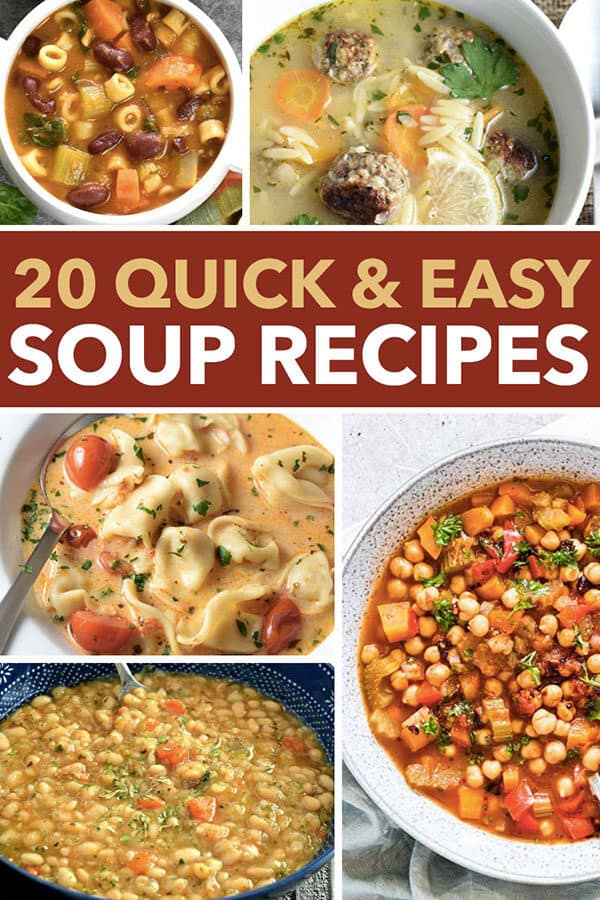 20 quick and easy soup recipes