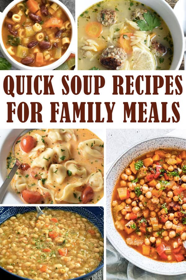 quick soup recipes for family meals