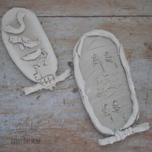 clay cartouches to make with kids for hands-on history