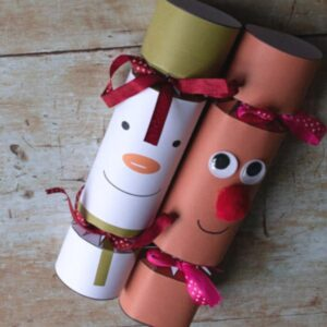 The Snowman and Rudolph FREE printable Christmas Cracker Craft for Kids and you to make this year