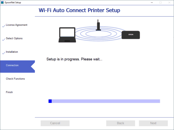 Easy to connect printer to the home wifi network