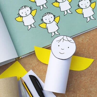Cardboard Tube Angel Craft for Kids