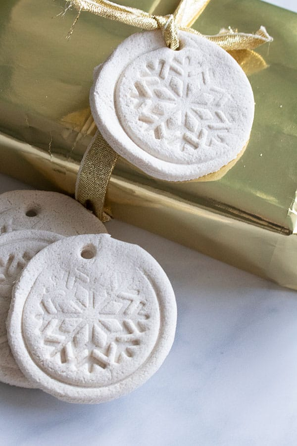 White Salt Dough Gift Tags