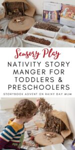 Nativity Story Sensory Play for Toddlers and Preschoolers