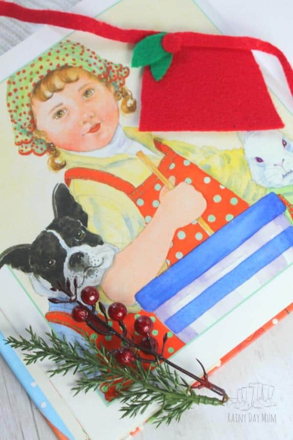 Apron Craft for Kids to make inspired by Christmas Cookies by Amy Krouse Rosenthal