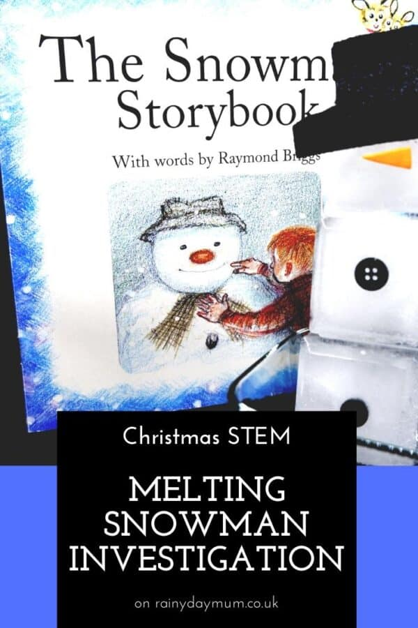 Christmas STEM Activity for Kids Melting Snowman Experiment