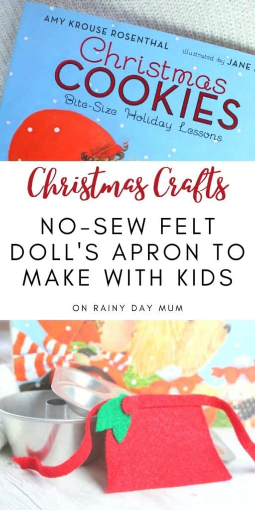 Christams Craft no-sew felt apron for a doll to make with kids