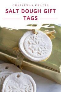christmas crafts salt dough gift tags