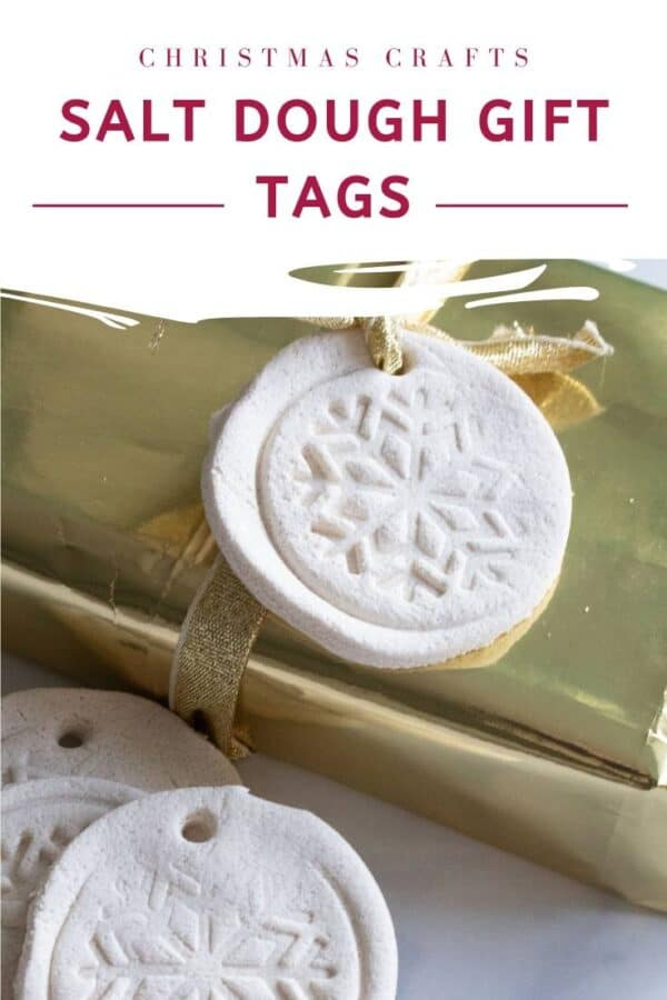 christmas crafts salt dough gift tags