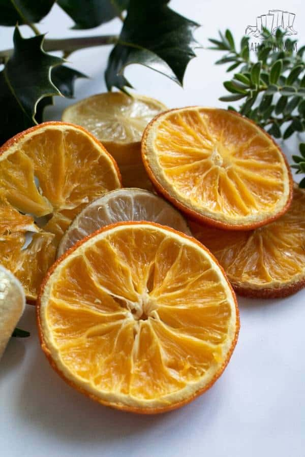 homemade dried orange slices in just 1 hour