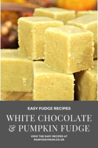 easy fudge recipe white chocolate and pumpkin pie fudge