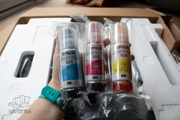 EcoTank refillable ink bottles