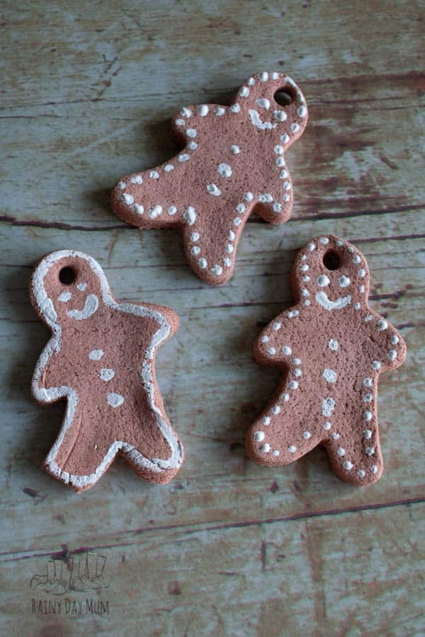 gingerbread men salt dough ornaments for the Christmas Tree