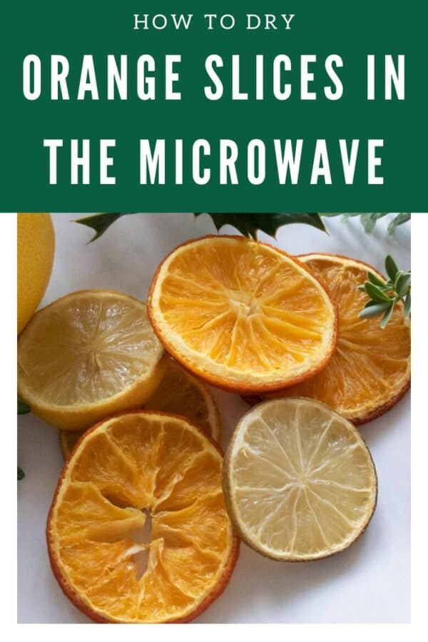 how to dry orange slices in the microwave