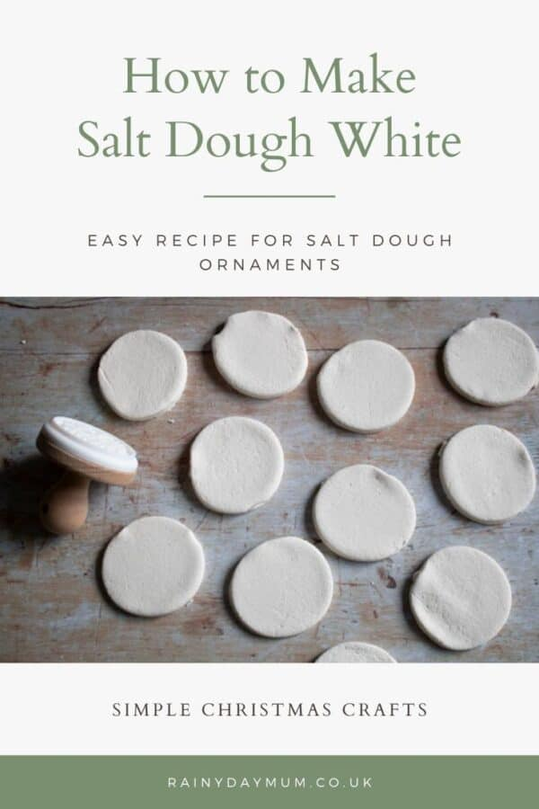how to make white salt dough pinterest image