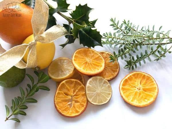 dried orange lemon and lime slices