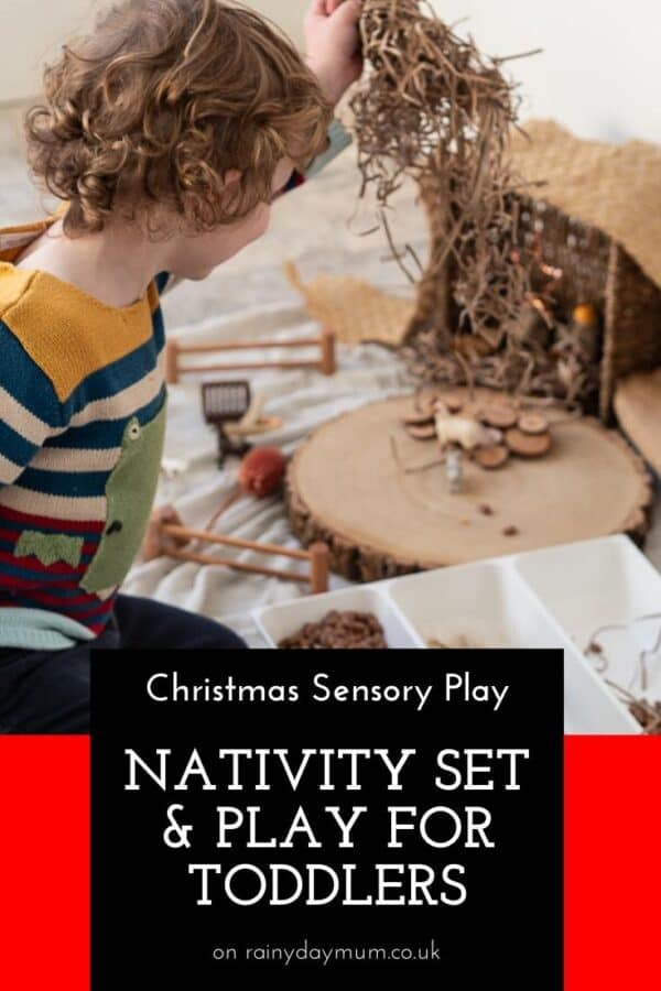 Christmas sensory play nativity set for toddlers