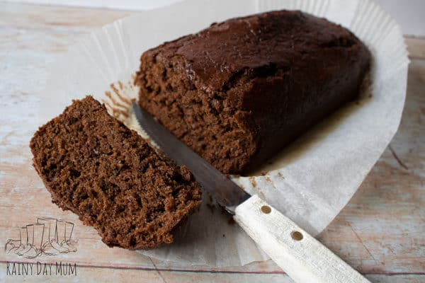 old fashioned sticky gingerbread loaf