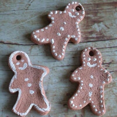 Salt Dough Gingerbread Men Decorations for Christmas