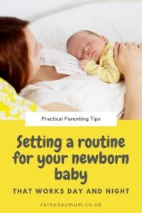setting a routine for your newborn baby