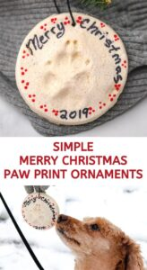 Simple Paw Print Ornaments to Make for Christmas