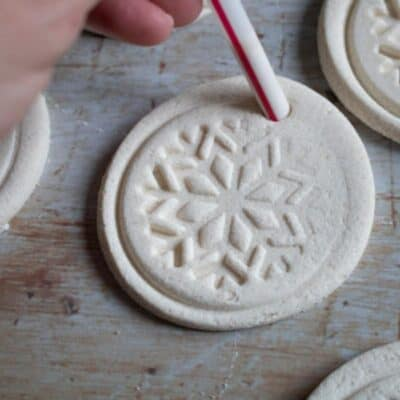 Simple Stamped White Salt Dough Gift Tags