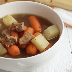 slow cooker lamb stew for Rainy Days