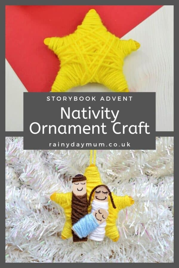 Simple Kids Crafts to create a Nativity Ornament for the Christmas Tree