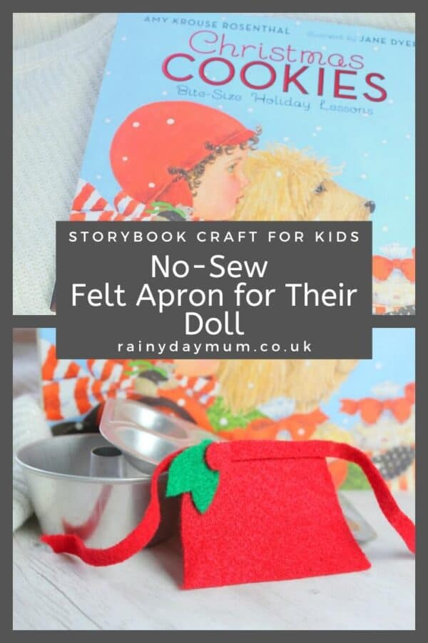 Storybook Craft for kids a doll's apron to make inspired by Christmas Cookies
