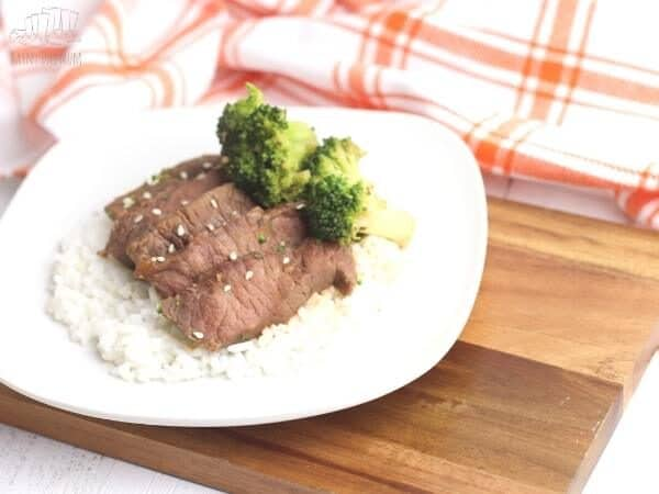 tender spicy beef and broccoli slow cooker family meal