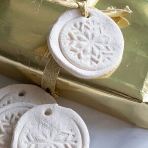 white salt dough recipe used to make gift tags