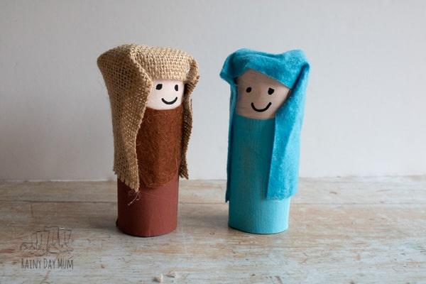 Cardboard tube Nativity Characters