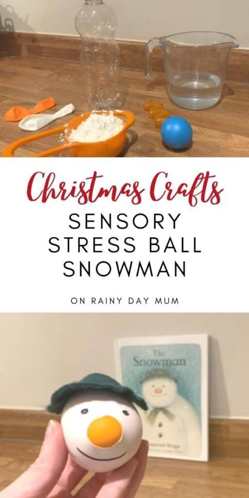 Make your Own Sensory Snowman Stressball for Kids