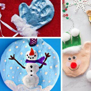 Christmas Craft Ideas for Kids - Salt Dough Handprint Ornaments to Make
