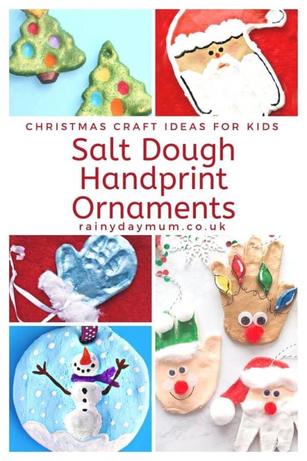 christmas craft ideas for kids salt dough handprint ornaments