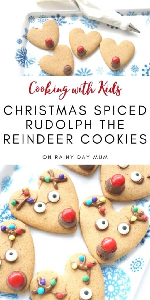 Cooking with Kids Christmas Spiced Rudolph Heart Cookies