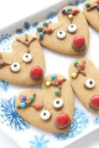 Simple Rudolph the Red Nosed Reindeer Cookies to Bake with Kids for Christmas
