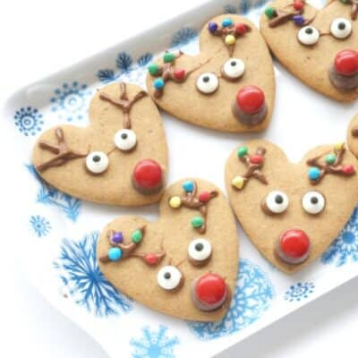 Christmas Spiced Rudolph Cookies to Cook with Kids