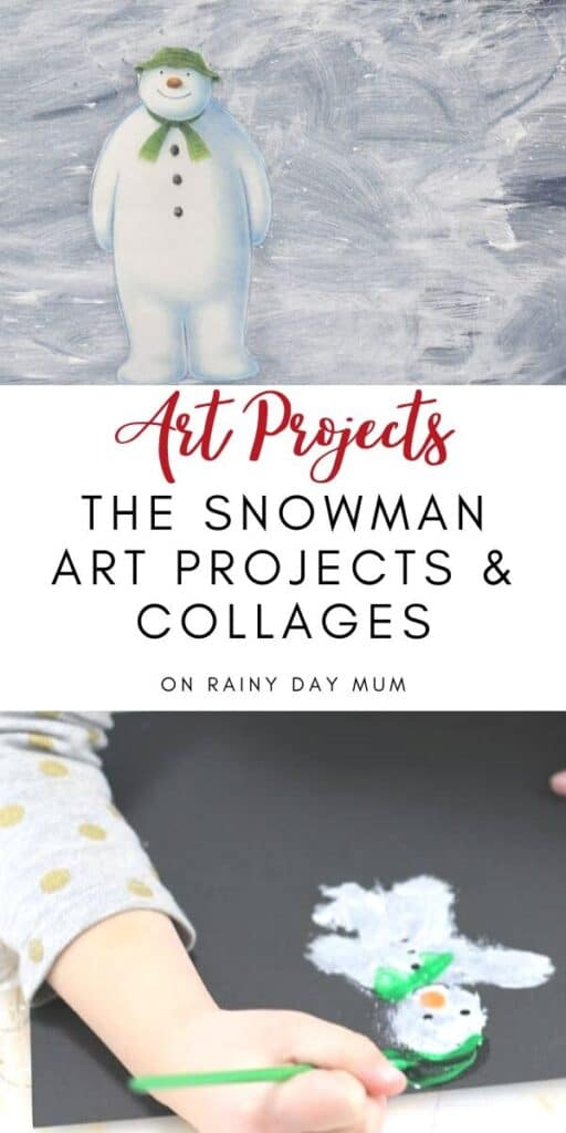 Art Project The Snowman Art Project and Collage for Kids