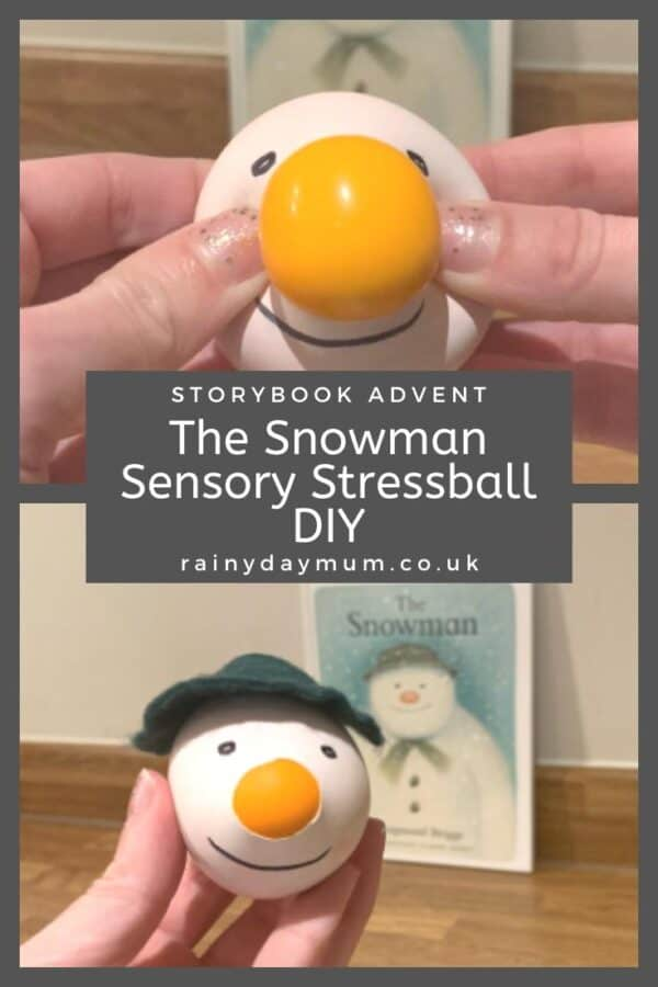 The Snowman Storybook Advent Sensory Stress Ball DIY