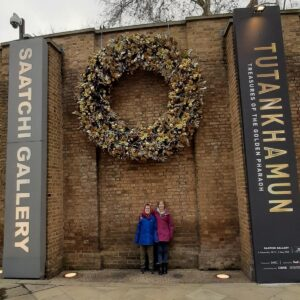 Family days out in London - the Tutankhamun Treasues of the Golden Pharaoh Exhibition at the Saatchi Gallery London